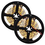 81W 유연한 LED 조명 스트립 7650-7750 lm DC12 V 10 m 300 LED가 웜 화이트 화이트