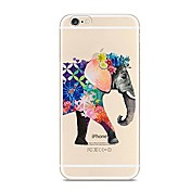 Para iPhone X iPhone 8 Carcasa Funda Transparente Diseños Cubierta Trasera Funda Elefante Suave TPU para Apple iPhone X iPhone 8 Plus