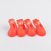 Perro Zapatos y Botas A Prueba de Agua Sólido Amarillo Rojo Verde Azul