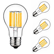 10W LED필라멘트 전구 A60(A19) 10 COB 900 lm 따뜻한 화이트 차가운 화이트 장식 AC 175-265 V 4개