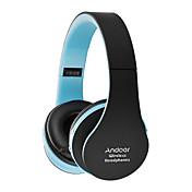 Auriculares plegables del bluetooth del andoer auriculares estéreos estupendos del bluetooth estéreo 3.0 auriculares atados con alambre
