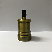 1 pcs 스위치와 코드없이 e26 / e27 소켓 스크류 전구 금속 쉘 매체 기본 에디슨 복고풍 펜던트 램프 홀더 110-240v