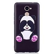 Caso para huawei p10 lite p10 cubierta patrón en relieve patrón panda suave tpu para huawei p9 lite p8 lite (2017) honor 6x y5 ii