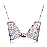 lureme®sweety Legierung Perlen hohlen-out Schmetterling Muster Halskette