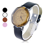Damen Quarz Analog Heart Pattern-Armbanduhr (farbig sortiert)