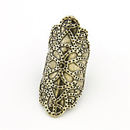 Punk Style Alloy Carving Muster Ring (verschiedene Farben)