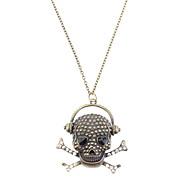 Diamant-Schädel-Kopf-Retro Halskette