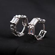 eruner®hexagon Doppelreihen-Legierung Kristall Ohrringe (farbig sortiert)