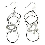 Bow 8 Font 925 Silver Earring