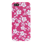 Rose Background with Flowers Pattern Matte PC Hard Case for iPhone 5/5S