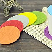 10CM Plastic Colorful Round Shape Table Mat