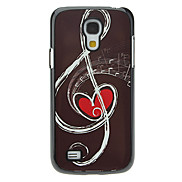 Musical Note Pattern Aluminum Hard Case for Samsung Galaxy S4 mini I9190