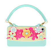 Women's satchel Shaped Colored Flower Pattern Back Case for iPhone 4/4S