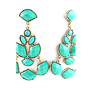 Drop Earrings Alloy Drop Black Blue Pink Jewelry Party Daily