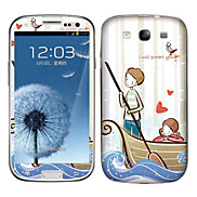 Cartoon Lovers Pattern Body Sticker for Samsung Galaxy S3 I9300
