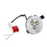 4W 3 High Power LED 280 LM Warm White LED Ceiling Lights AC 100-240 V