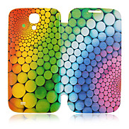 Colors Circle Full Body Leather Case for Samsung Galaxy S4 I9500