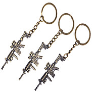 1PCS Metal Short Mirror Sniper Rifle Keychain