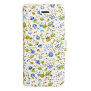 Blue White Porcelain Small Flower Leather Case for iPhone 5/5S