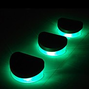 6pcs 2LED Green Solar Lights Wall Stair Parapet Walkway Outdoor Deck Lamp