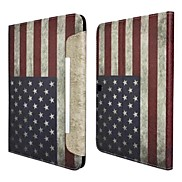 Fashion National Flag PU Leather Full Body Case with Strap and Sticker for Samsung Galaxy Tab 4 10.1 T530