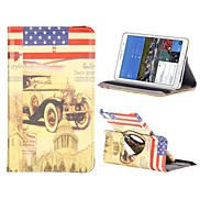 Bubble Car 360 Degree Rotate Flip Stand PC+Leather Case with Elastic Belt for Samsung Galaxy Tab Pro 8.4 T320