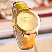 Ladies Leisure All-match Golden Pointer  Leather Watch (Assorted Color)