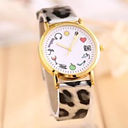 Women's SELDEN Popular Stylish Leopard Ladies  Leather Watch (Assorted Color)
