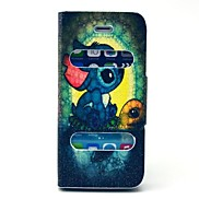 Cartoon Turtle Pattern PU Leather Full Body Case with Stand for iPhone 5/5S
