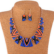 New Bohemia Multicolor Oildrip  Alloy (Necklaces&Earrings&) Gemstone Jewelry Sets(More Color)