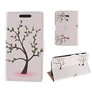 Young Trees Flower Pattern PU Full Body Case with Card Slot for Motorola MOTO G