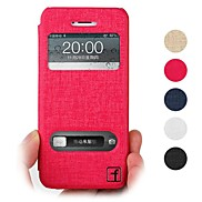 Topcel™ Flower Show Screen Visible  PU Leather  Full Body Case  for iPhone 5/5S - (Assorted Colors)