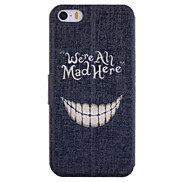 Cartoon Crazy Teeth Pattern Full Body Case with Card Slot for iPhone 5/5S