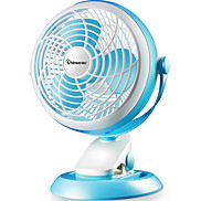 Mini Slim Clippable Fan with adjustable angles and wind speed / quiet and powerful