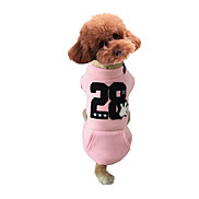 Dog Shirt / T-Shirt Dog Clothes Casual/Daily Stripe Blue Brown