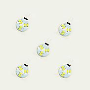 1W LED Crystal Light G4 6SMD 5630 White/Warm White DC12V 5Pcs