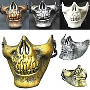 Hot! Costume Halloween Airsoft Skull Motorcycle  Skull Half Face Cs Military Skeleton Warrior 3 Generations Masquerade Mask