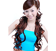 Synthetic Hairpiece - Extra Long And Curly Auburn Hair Volume Intensifier