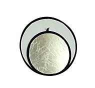 "32 ""80 cm de plata / blanco 2 en 1 disco reflector plegable (cca292)"