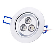 3 W 3 High Power LED 250 LM Natural White Recessed Retrofit Recessed Lights / Ceiling Lights AC 85-265 V