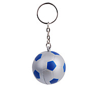 Green Silver Ball Keychain with Soft Plastic Material