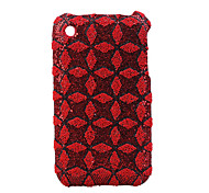 Textured Protective Backside Case for iPhone 3G/3GS (Red)