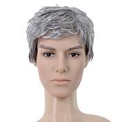 capless breve parrucca grigia capelli lisci (0463-6.13-293)