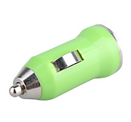 Carro 700mA cigarro movido adaptador usb / carregador (12V / 24V DC) -green para iphone iphone 6 6 mais