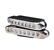 Lâmpada Branca de Condução de Dia para Automotivo 4W 8LEDs (Conjunto de 2)