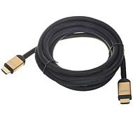3m 10ft 1080p 3d v1.4 4k cable HDMI de alta velocidad w / núcleos de ferrita - negro