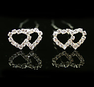 alfileres de novia hermosos diamantes de imitación de la boda, 2 piezas