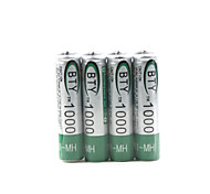 4 x 1000mAh BTY Ni-MH AAA 1.2V Rechargeable Battery