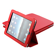 PU Leder Schutzhülle mit Ständer für Apple iPad (Rot)
