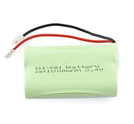 1800mAH 2.4V AA Ni-MH batería recargable (2-pack)